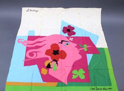 Yves SAINT LAURENT  Lot de 3 foulards «les...