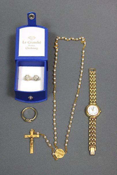 Lot de 4 pièces: une montre bracelet en...