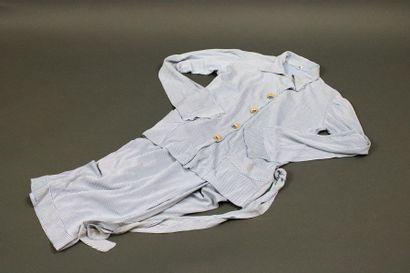 Pyjama d'enfant en jersey indémaillable rayé...