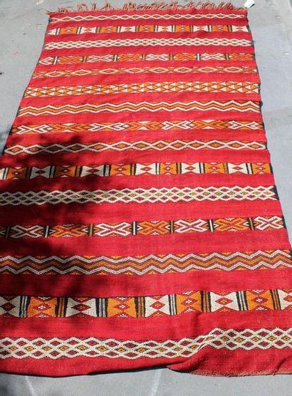 Tapis Kilim à décor de frises géométriques...