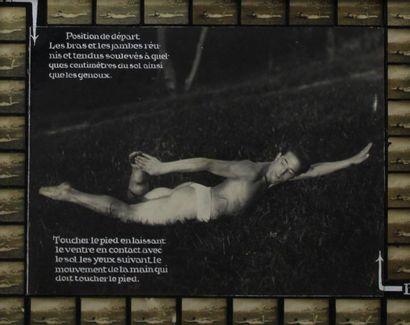 SPORT, effort physique, corps en mouvement, décomposition des mouvements (sur les...