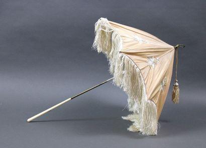 Ombrelle, fin XIXème, manche en ivoire et...