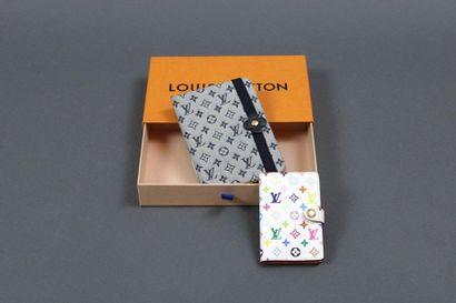 Louis VUITTON  Petit carnet de notes en toile...