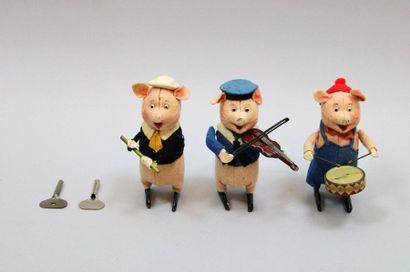 SCHUCO  Les 3 petits cochons musiciens, en...