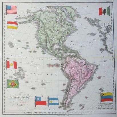 CARTE DE L'AMERIQUE (du nord & du sud) -...