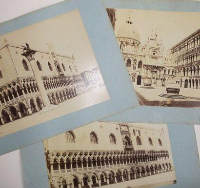 ITALIE - VENISE - 3 PHOTOGRAPHIES anciennes...