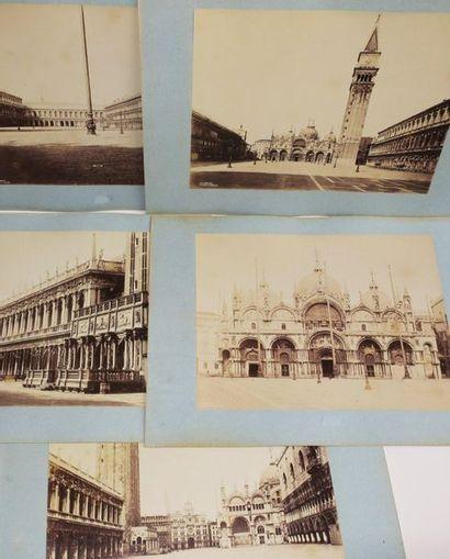 ITALIE - VENISE - 5 PHOTOGRAPHIES anciennes...