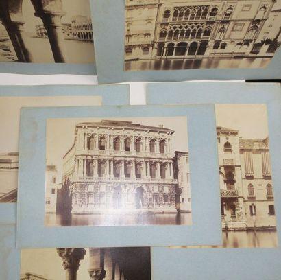 ITALIE - VENISE - 6 PHOTOGRAPHIES anciennes:...