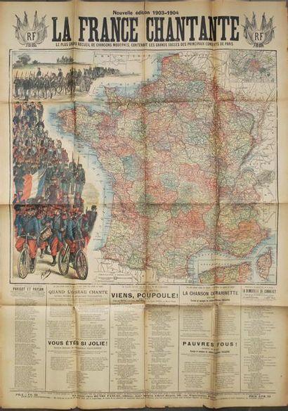 CARTE DE LA France vers 1903-1904 - AFFICHE...