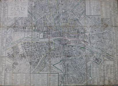 PARIS (75) - PLAN - Début du XIXe s.