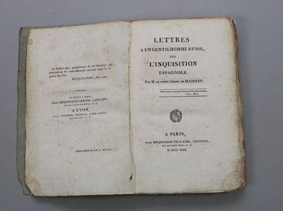 - MAISTRE (Joseph de): Lettres à un Gentilhomme...