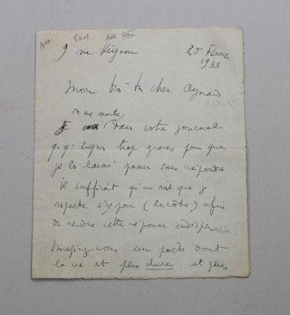 - COCTEAU (Jean), 1889-1963, poète, écrivain,...