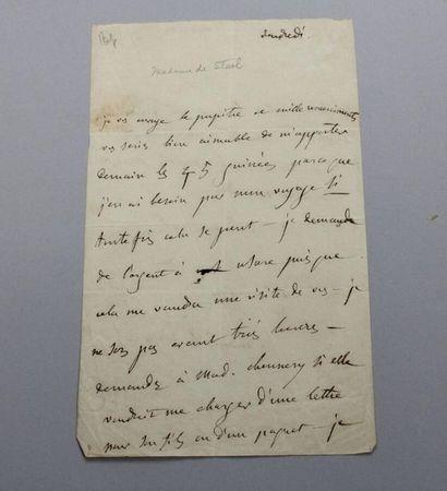 - STAEL (Germaine NECKER, baronne), 1766-1817,...