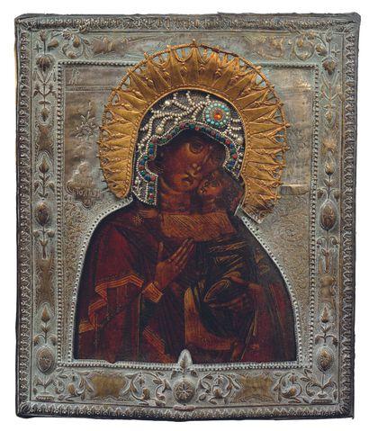 Notre-Dame de tendresse. Russie, XIXe siècle....