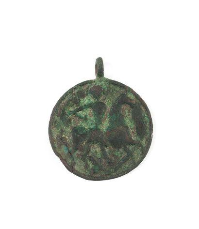 Icône-médaille représentant saint Georges....