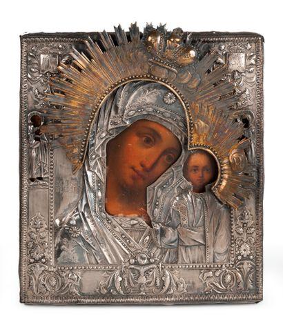 Icône de la Mère de Dieu de Kazan ; accompagnée...