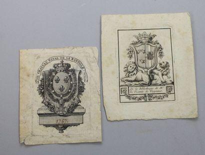- EX LIBRIS: deux beaux ex libris de bibliothèques...