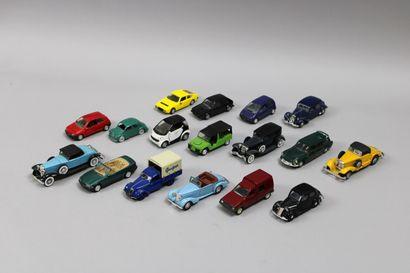 Lot de 17 voitures dont 5 NOREV: Citroën...