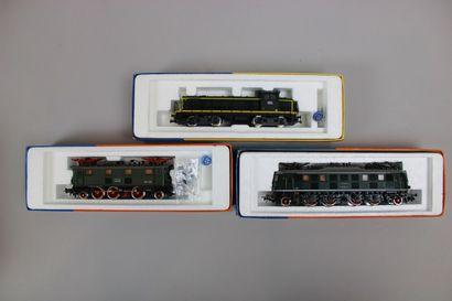 ROCO HO  Lot de trois locomotives dont 2...