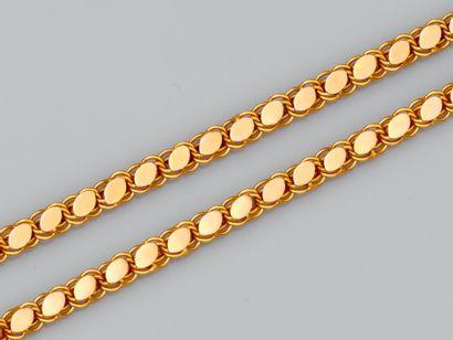 Collier en or jaune 750°/°° (18K); à maille...