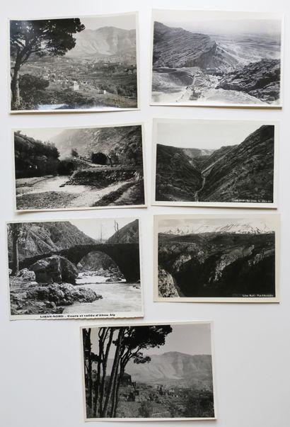 LIBAN - Réunion de 7 PHOTOS ANCIENNES (XX...