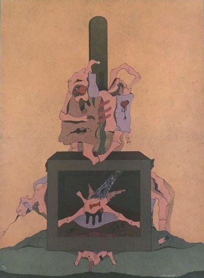 CAMACHO Jorge Lithographie signée en bas...