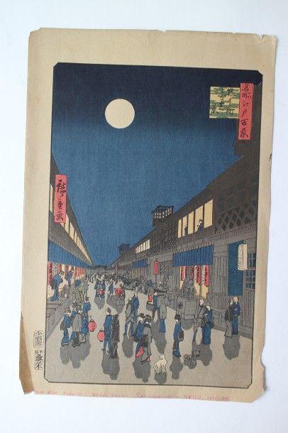 Lot de deux estampes, Ando Hiroshige (1797-1858),