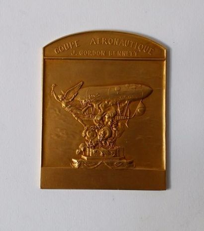 COUPE AERONAUTIQUE J GORDON BENNETT  Médaille...