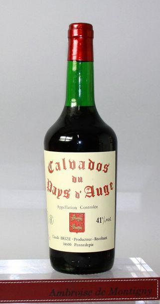1 bouteille CALVADOS du Pays d'Auge - C....