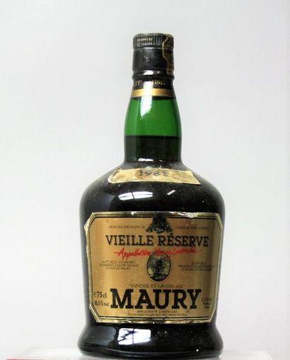 1 flacon MAURY VIEILLE RÉSERVE 1981