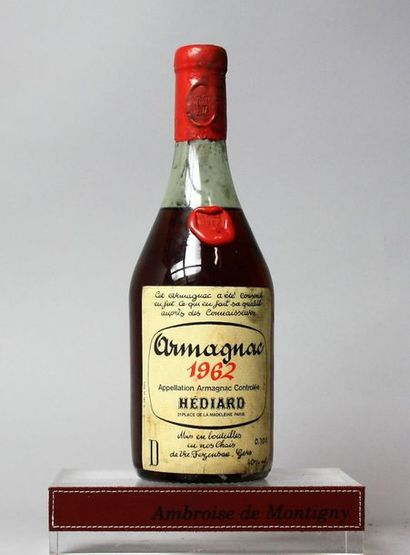 1 bouteille ARMAGNAC HEDIARD 1962