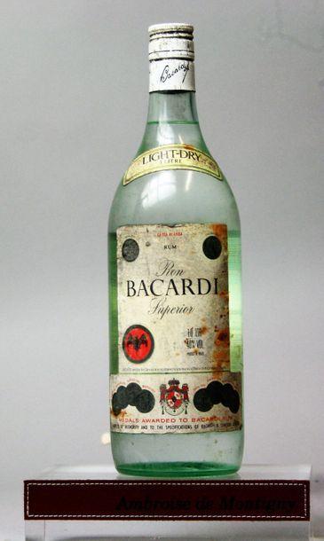 1 bouteille RHUM BACARDI SUPERIEUR CARTA...