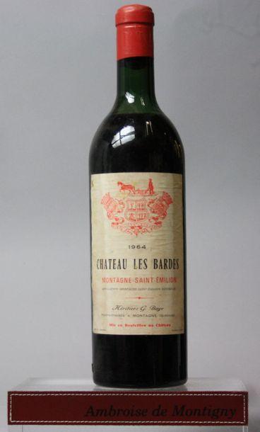 1 bouteille CHÂTEAU LES BARDES - Montagne-Saint-Emilion...