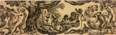 Ecole FRANCAISE du XVIIIème siècle - Frise...