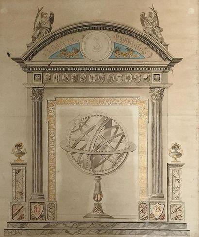 Ecole FRANCAISE du XIXème siècle Sphère oblique...