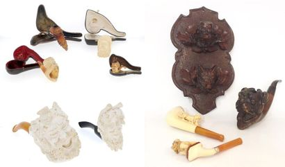 Collection de pipes comprenant : - une pipe...