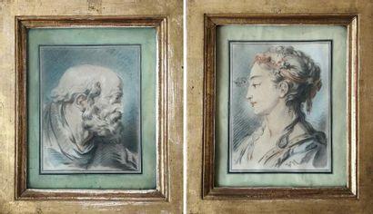 Ecole FRANCAISE du XIXème siècle Portrait...