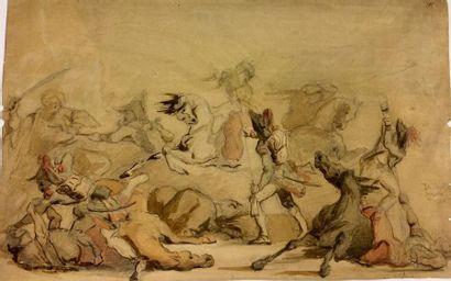 Ecole FRANCAISE du XIXème siècle Scène de...