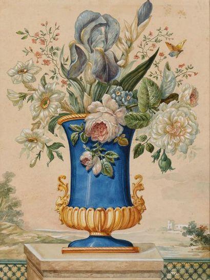 Ecole FRANCAISE du XIXème siècle Bouquet...