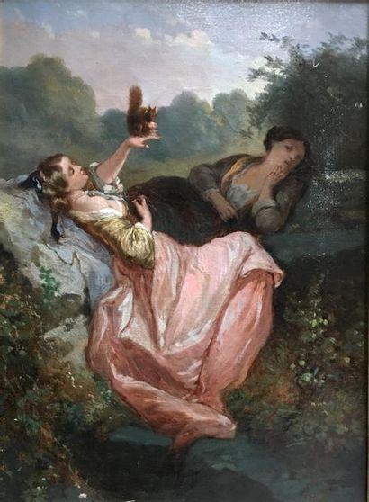 Ecole FRANCAISE du XIXème siècle Jeunes femmes...