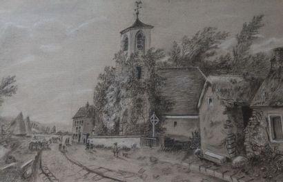Ecole FRANCAISE du XIXème siècle Le Clocher...