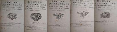 Recueils de planches de l'Encyclopédie Cinq...