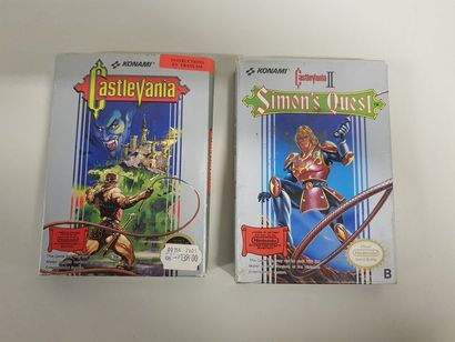 NINTENDO NES  Castlevania 1 et 2 en boite...