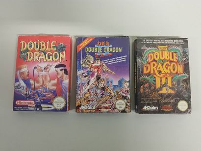 NINTENDO NES  Lot des 3 Double Dragon pour...
