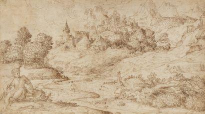 Attribué à Domenico CAMPAGNOLA (Padoue 1500...