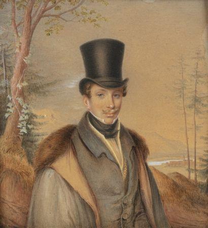 Ecole allemande du XIXème siècle Portrait...