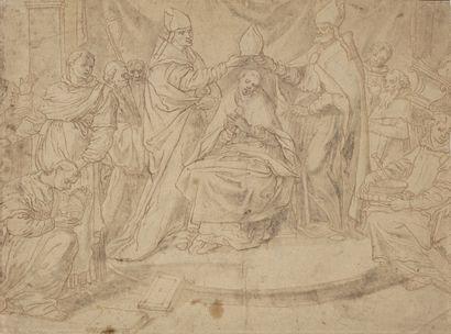 Ecole milanaise du XVIIème siècle Le couronnement...