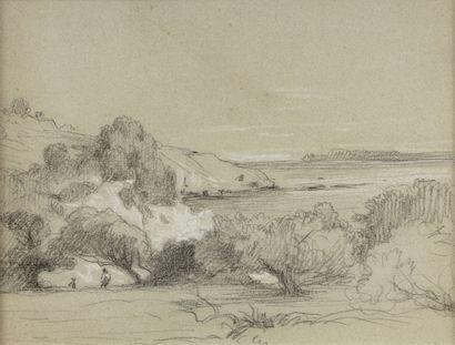 Léon BENOUVILLE (Paris 1821-1859) Paysage...