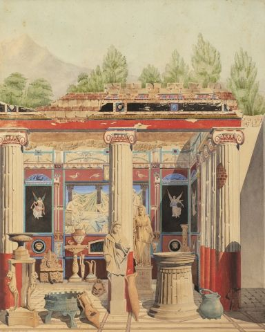 Alfred DECLOUX (1824-1868) Caprice pompéien...