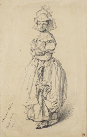 Henry MONNIER (Paris 1805 – 1877) Femme en...